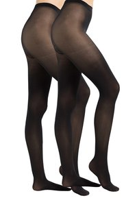 Pieces - PCNEWNIKOLINE 2 PACK - Tights - black - 0