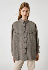 PULL&BEAR - Button-down blouse - mottled black - 0