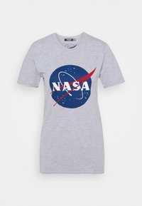 Missguided Petite - NASA GRAPHIC - Print T-shirt - grey - 0
