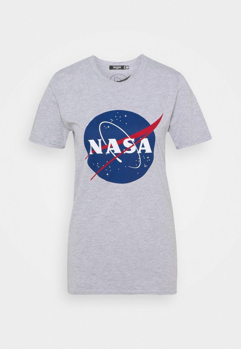 Missguided Petite - NASA GRAPHIC - Print T-shirt - grey