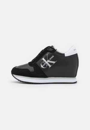 WEDGE LACEUP - Baskets basses - black