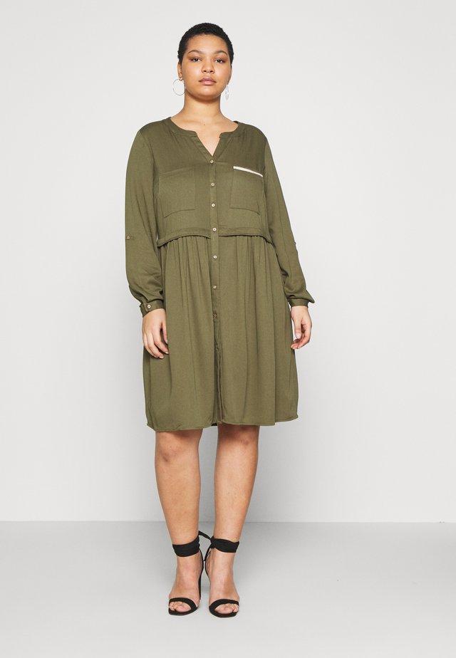 YFIERCE  DRESS - Shirt dress - rifle green