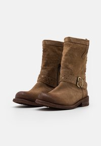 Felmini Wide Fit - GREDO - Cowboy/biker ankle boot - marvin stone - 2