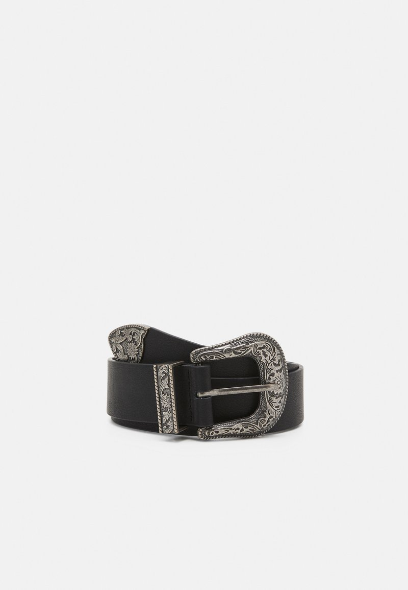Pieces - PCBEVERLY WAIST BELT - Belt - black/silver-coloured