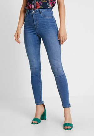 MOLLY HIGHWAIST - Jeansy Skinny Fit - midblue