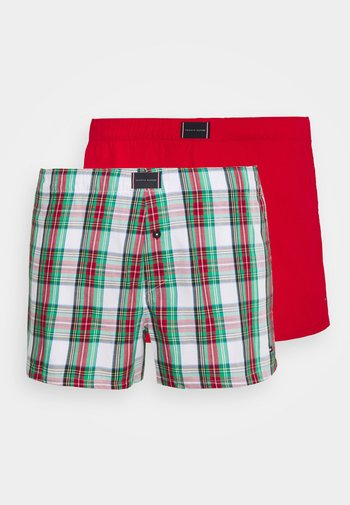 PRINT 2 PACK - Boxer shorts - red/green