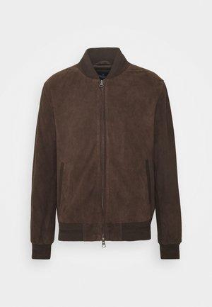 BLOUSON - Leather jacket - brown