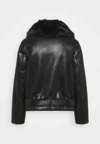 Patrizia Pepe - GIUBBOTTO REVERSIBLE SHE - Leather jacket - nero - 1