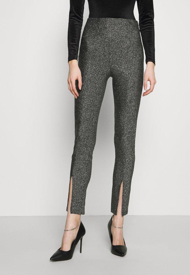 GWEN HIGH WAIST EXCLUSIVE - Pantaloni - silver