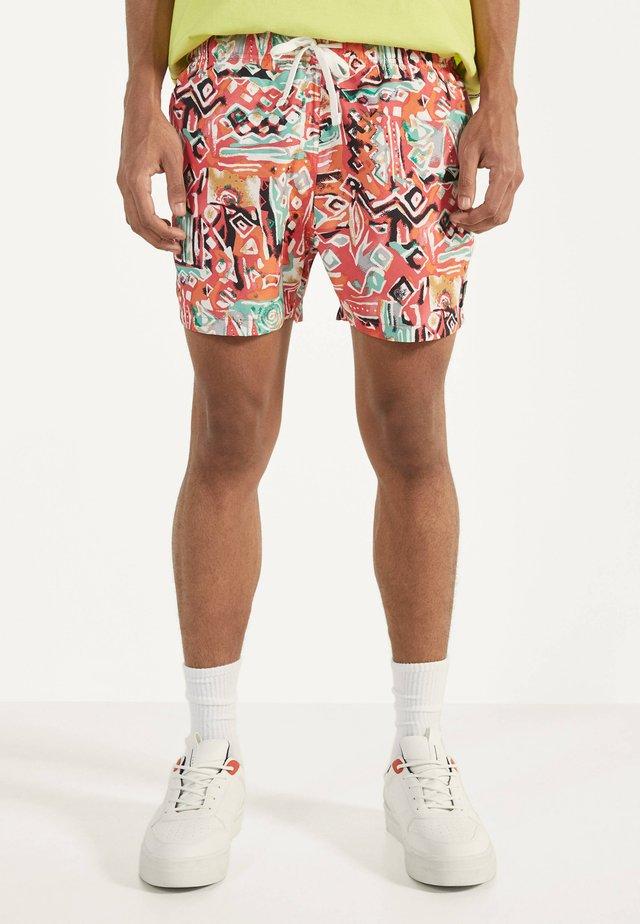 MIT PRINT  - Swimming shorts - white