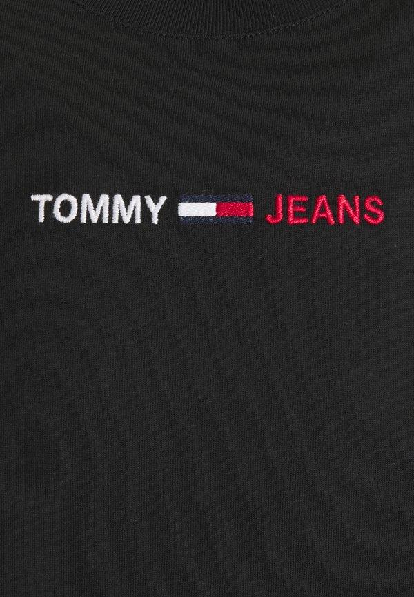 Tommy Jeans LINEAR LOGO TEE - T-shirt z nadrukiem - black/czarny Odzież Męska TNRE