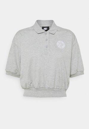 FEMME CROP - Polo shirt - grey heather/matte silver/white