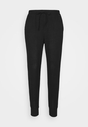 COZY LOUNGE JOGGER - Pyjama bottoms - black