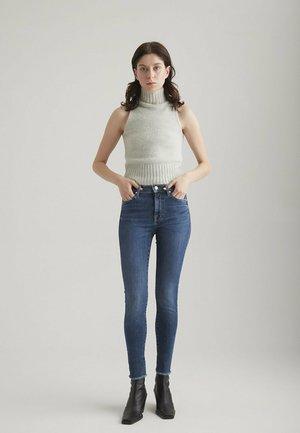 Jeans Skinny Fit - dark blue fringe