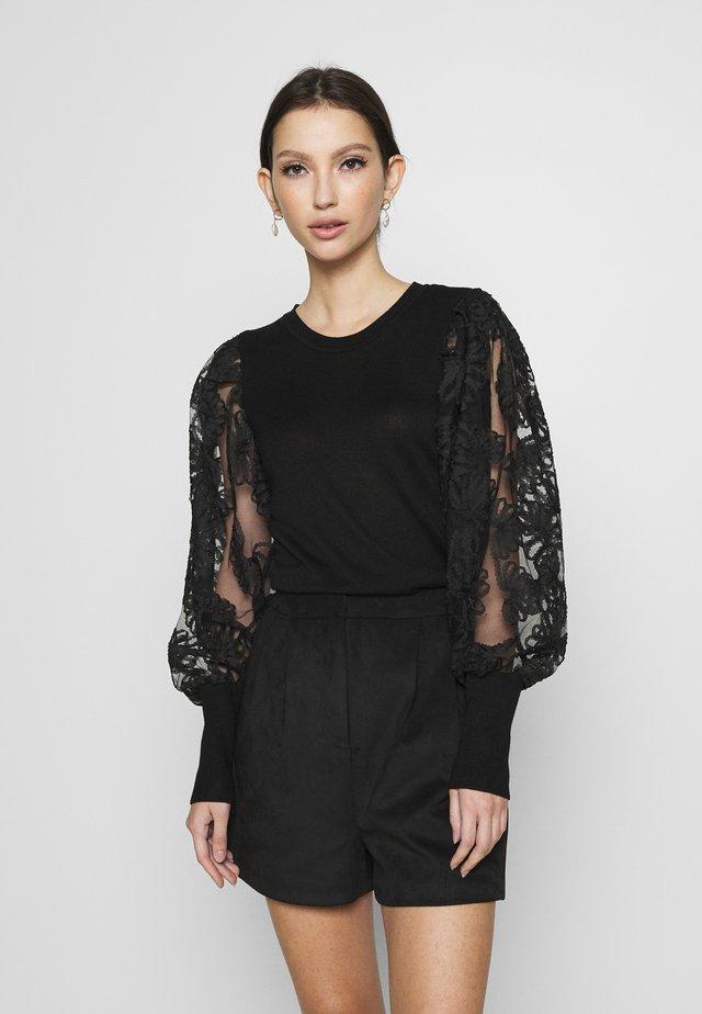 ONLFLORA  - Pullover - black