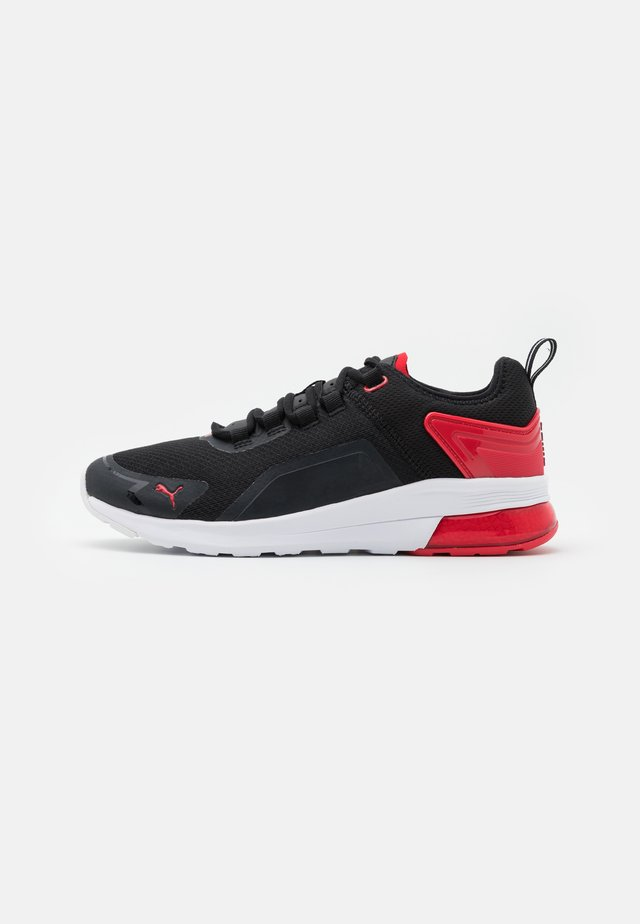 ELECTRON STREET ERA - Neutral running shoes - black/high risk red/white