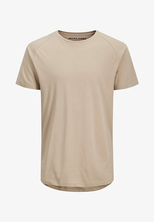 JJECURVED TEE O NECK - Basic T-shirt - beige