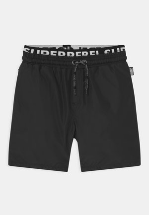 SOLID DOUBLE WAISTBAND UNISEX - Plavky - black