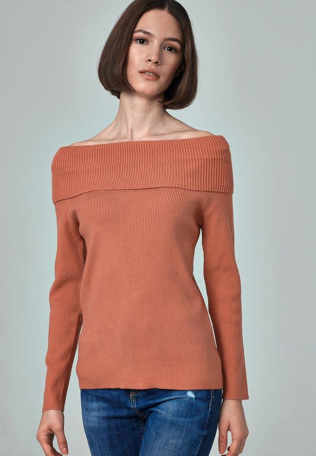 MADONNA - Stickad tröja - light brown