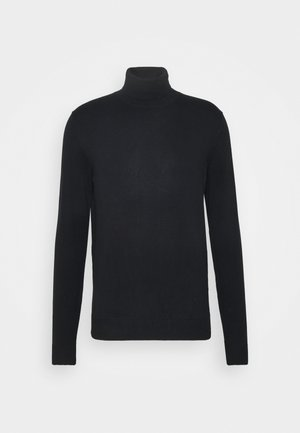 COWS ROLL - Strickpullover - black