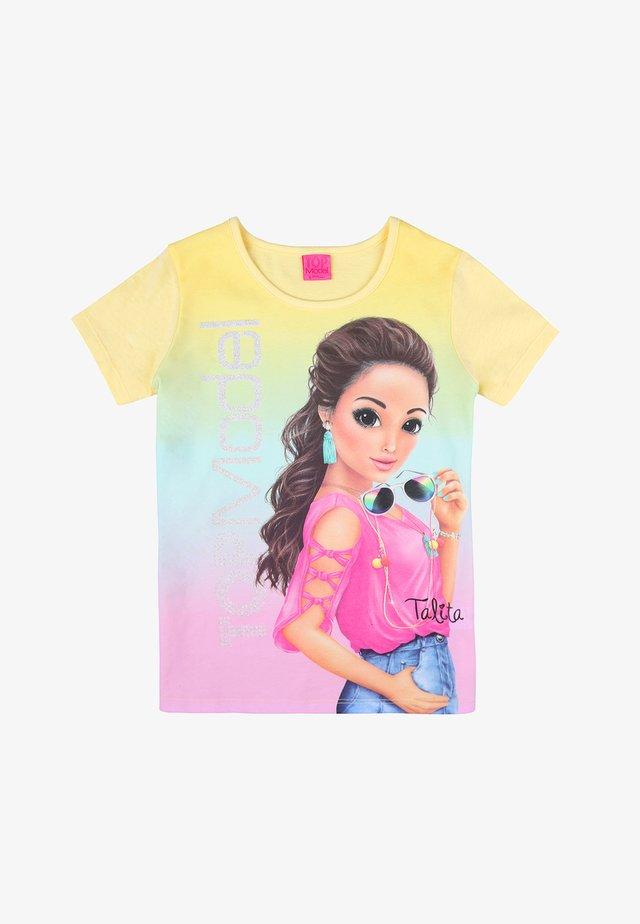 Print T-shirt - lemon meringue