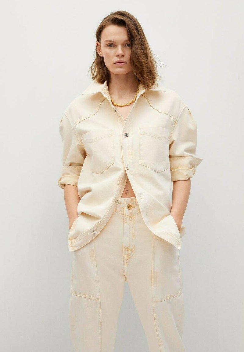 Mango - Button-down blouse - pastelgeel