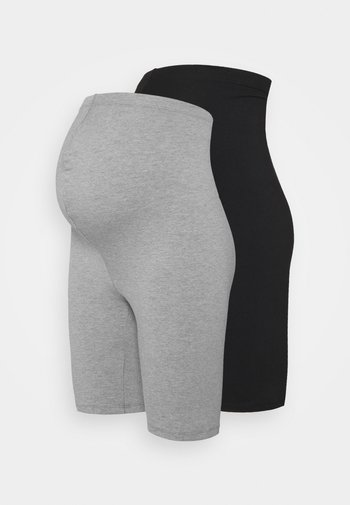 2 PACK  - Shorts - black/grey