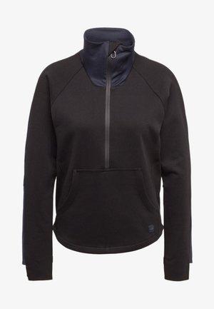 ZIP STRAIGHT - Sweatshirt - black