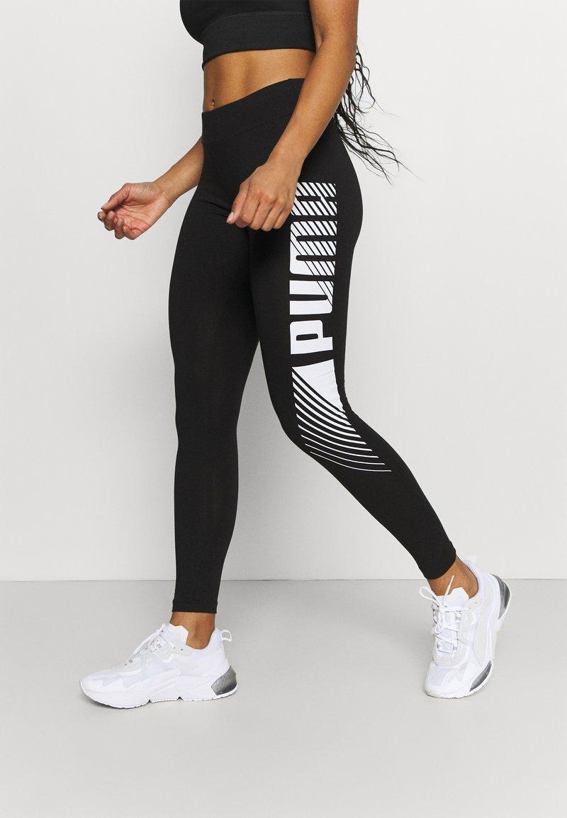 Puma - GRAPHIC LEGGINGS - Collants - black