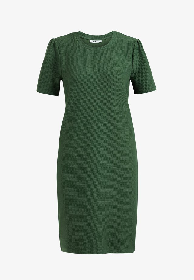 MET STRUCTUUR - Gebreide jurk - mint green