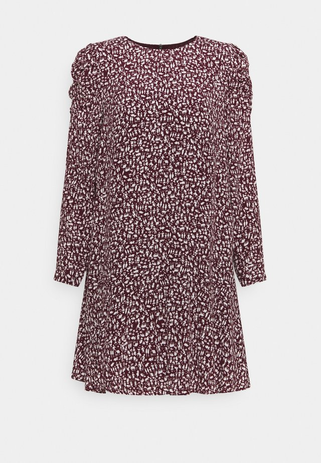 PEOPLE PRINT GEORGINA  - Korte jurk - burgundy