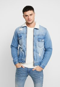 Redefined Rebel - DENNIS JACKET - Chaqueta vaquera - light blue - 0