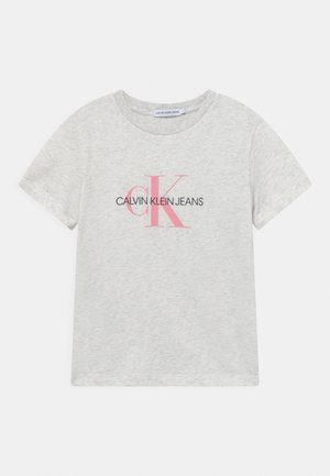 MONOGRAM LOGO UNISEX - T-shirt print - white heather