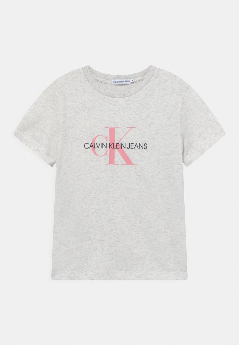 Calvin Klein Jeans - MONOGRAM LOGO UNISEX - T-shirt con stampa - white heather