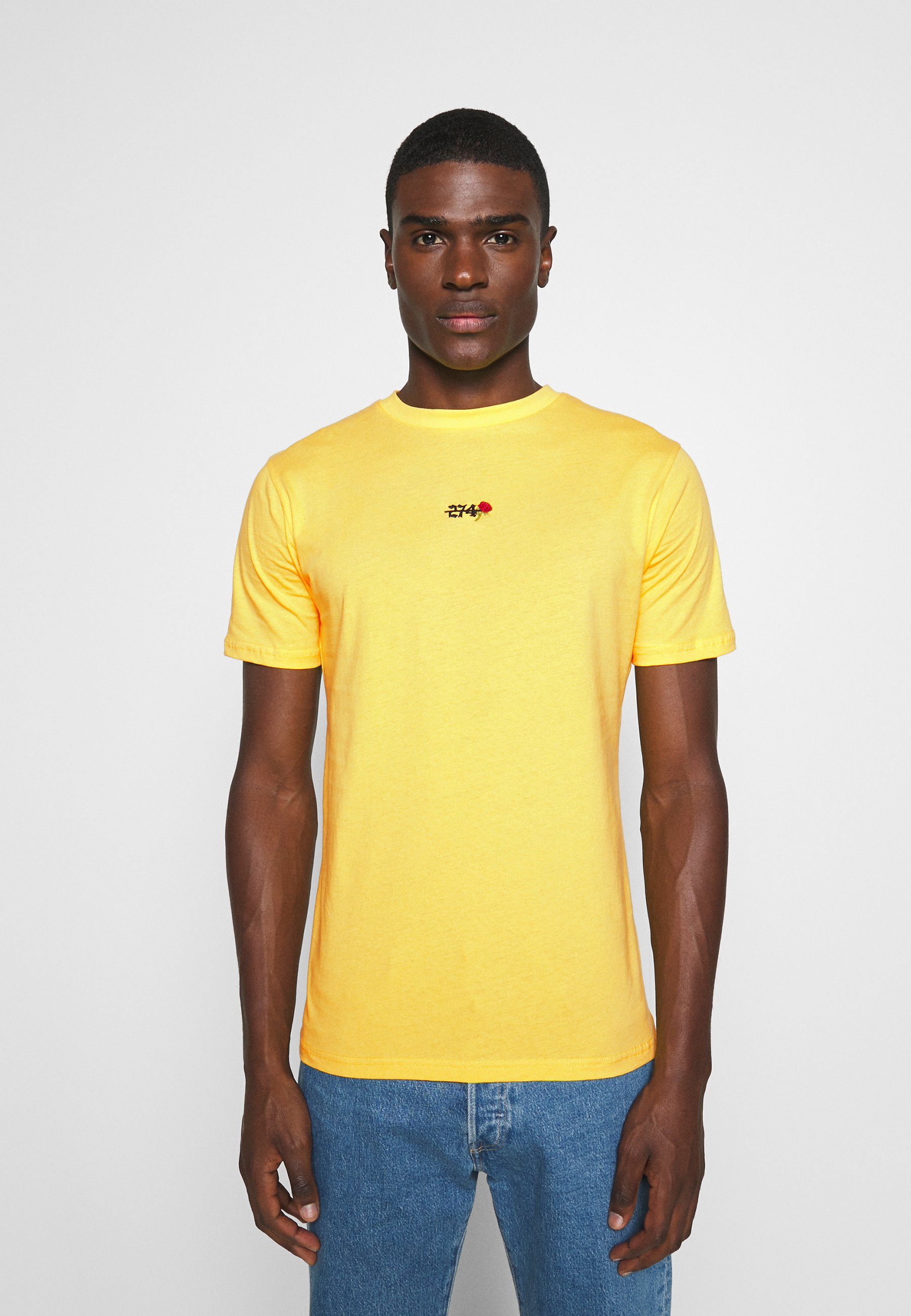 274 FLAME TEE - Print T-shirt - yellow 4WsAE