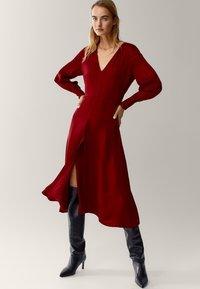 Massimo Dutti - Korte jurk - red - 1