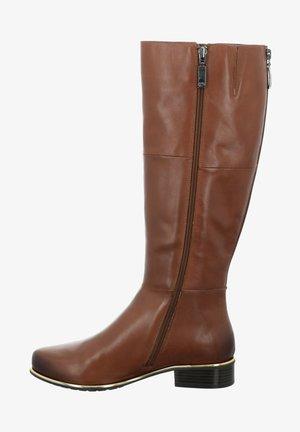 CALLA - Boots - cognac-kombi