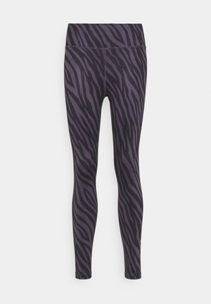 ONE 7/8 - Tights - dark raisin/white