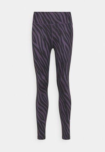 ONE 7/8 - Legging - dark raisin/white