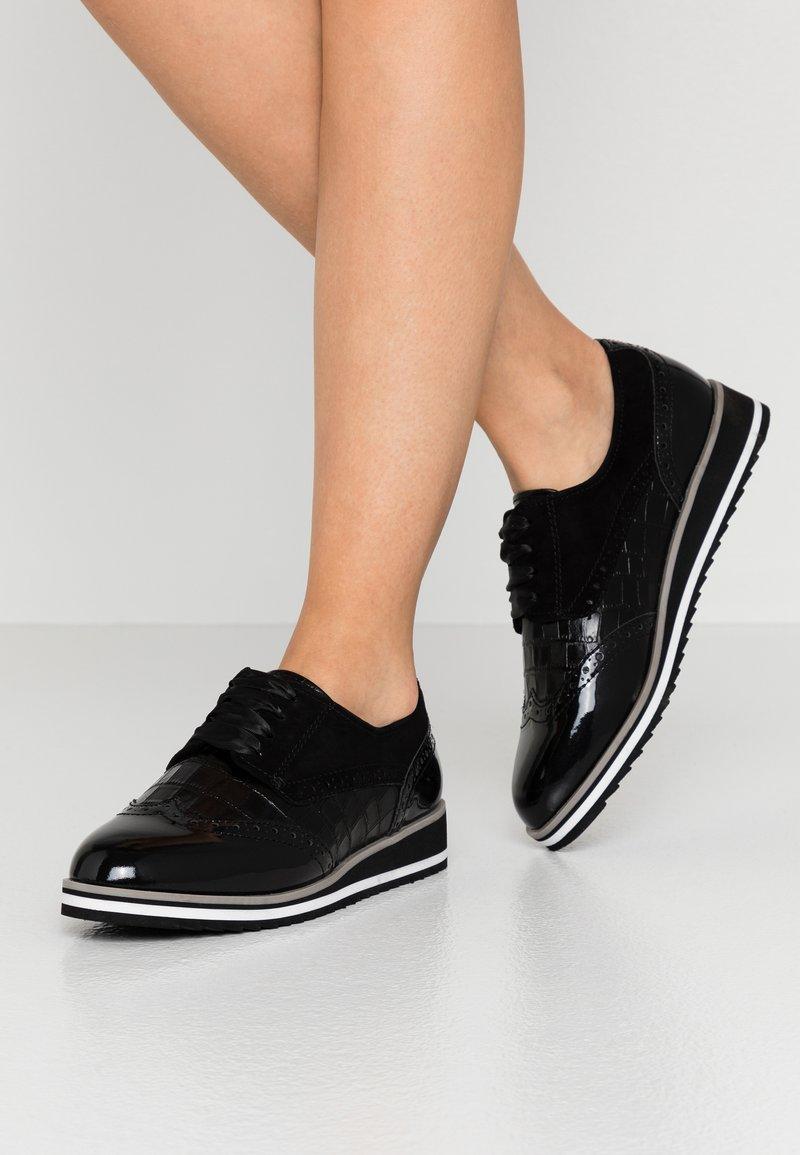 Caprice - Šněrovací boty - black