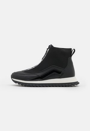 VIKA ZIP UP - Sneakersy wysokie - black/white