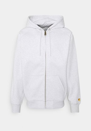 HOODED CHASE - Felpa aperta - ash heather