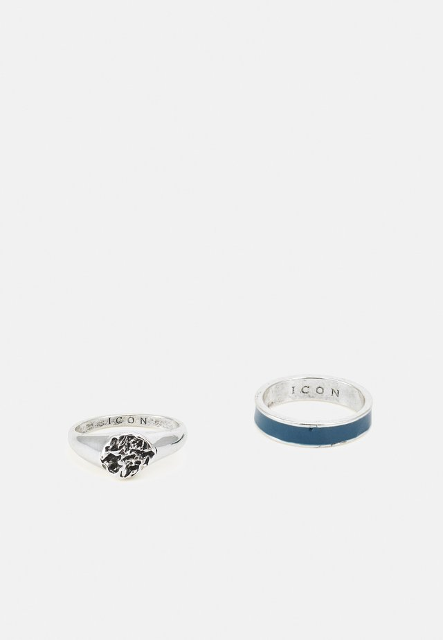 MOLTEN SIGNET 2 PACK - Ring - silver-coloured