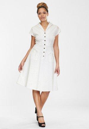 LIZA - Skjortklänning - white/black