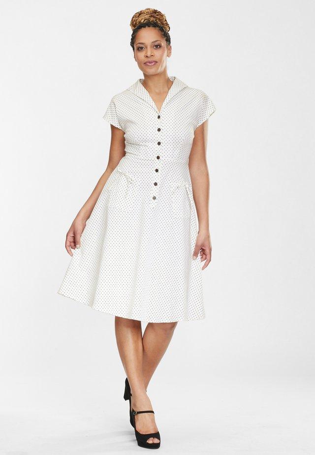 LIZA - Shirt dress - white/black