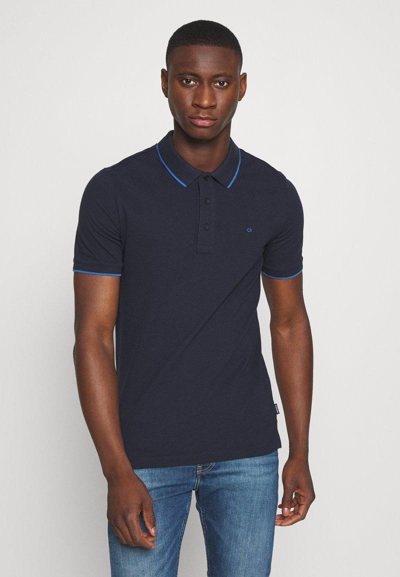 Calvin Klein - TIPPING SLIM - Poloshirts - blue
