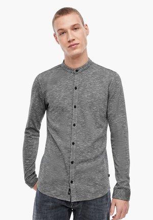 MIT HIGH NECK - Overhemd - black melange