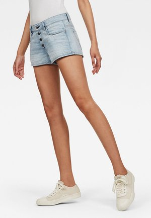 ARC 2.0 3D BUTTON - Denim shorts - light-blue denim