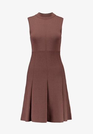 FIT AND FLARE DRESS - Robe pull - chocolate
