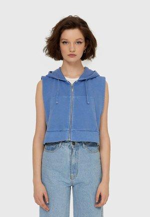 MIT KAPUZE - Waistcoat - mottled blue